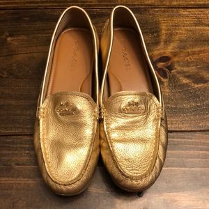 Women's Gold Coach Loafer